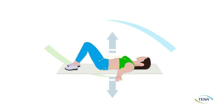Beckenbodenübung 6 Rücken in die Matte drücken