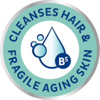 TENA ProSkin Shampoo & Shower cleanses hair & fragile elderly skin
