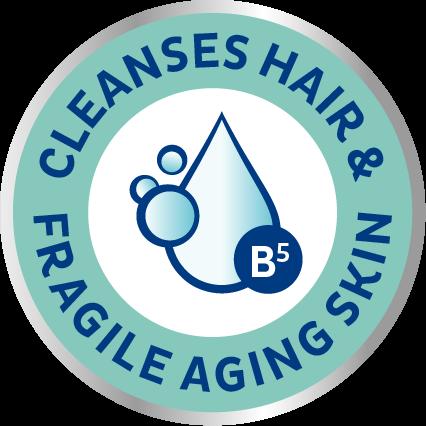 TENA ProSkin Shampoo & Shower Suihkushampoo puhdistaa hiukset ja herkän, ikääntyvän ihon