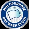 TENA ProSkin – Torr tvättlapp med flera användningsområden, perfekt vid byte av absorberande inkontinensprodukter