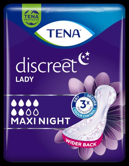 TENA Lady Discreet Maxi Night | Inkontinenzprodukt für die Nacht für Frauen