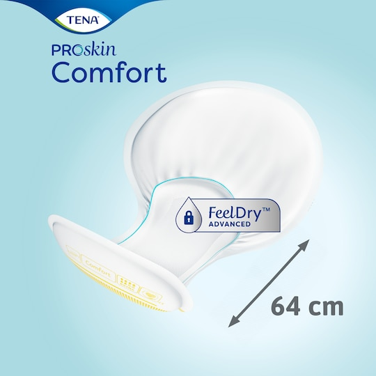 TENA Comfort Extra | Large shaped incontinence pad