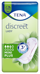 TENA Discreet Mini Plus Diskrete und sichere Inkontinenzeinlagen für Frauen