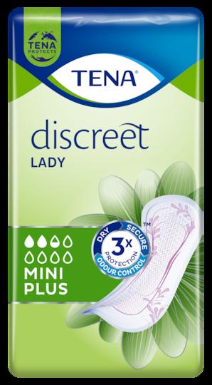 TENA Lady Discreet Mini Plus | Diskrete und sichere Inkontinenzeinlagen für Frauen