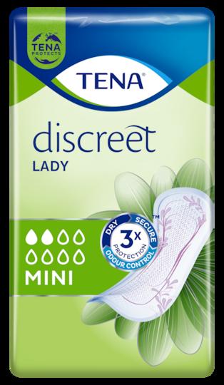 TENA Discreet Mini Diskrete und sichere Inkontinenzeinlagen für Frauen