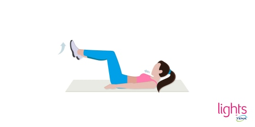 Beckenbodentraining nach Geburt Übung 2 Im liegen die Beckenmuskeln stabilisieren