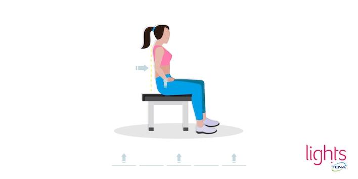 Beckenbodentraining nach Geburt Übung 3 Beckenboden im Sitzen stärken