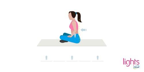Beckenbodentraining nach Geburt Übung 4 Effektiver Schneidersitz