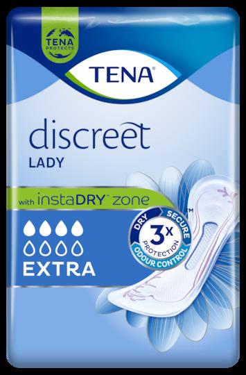 TENA Discreet Extra Inkontinenzprodukt für außergewöhnlich sicheren Schutz