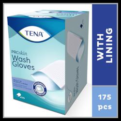 TENA «ProSkin» mazgāšanas cimdi – sausā mazgāšanas drāna ar oderi – ikdienas ķermeņa tīrīšanas procedūrai