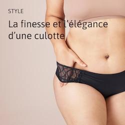 Culotte féminine avec protection intégrée by TENA. Absorbe autant qu'un protège-slip TENA Ultra Mini
