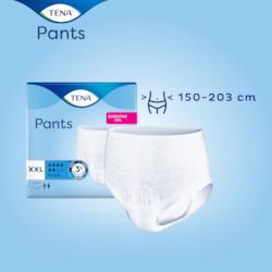 TENA Pants Bariatric Plus är utformat för kliniskt överviktiga personer med ett midjemått på 150–200cm