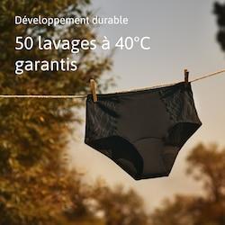 Culotte absorbante antifuites lavable en machine et réutilisable