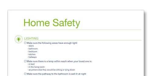 Illustration of the TENA Family Carer Home Saftey template