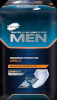 TENA Men Absorbent Protector, Level 3 – Ekstra beskyttelse til mænd med større ufrivillige vandladninger og inkontinens – Til brug dag og nat