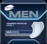 TENA MEN — wkładki męskie dla codziennej ochrony i zachowania odpowiedniej higieny przy lekkim, kropelkowym nietrzymaniu moczu. Dyskretne i łatwe w użyciu, wystarczy je przykleić do własnej bielizny.
