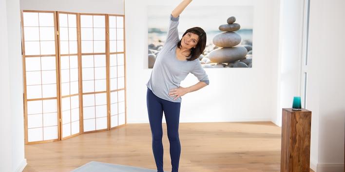 Yoga Pilates Übung - Die Palme