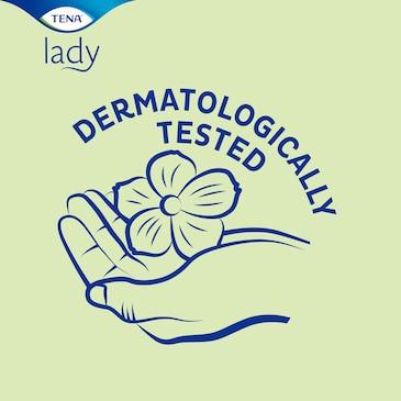 Gli assorbenti TENA Lady sono dermatologicamente testati
