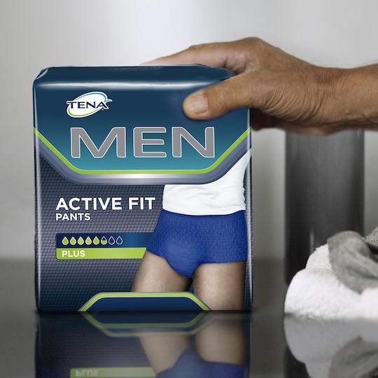 Cuecas para incontinência TENA Men Active Fit para perda de urina nos homens