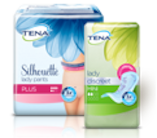 TENA Lady Discreet Mini ve TENA Lady Pants Plus paketleri