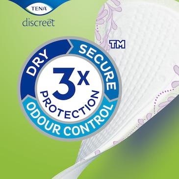 TENA Discreet Slipeinlagen mit Dreifachschutz vor Auslaufen, Feuchtigkeit und Gerüchen