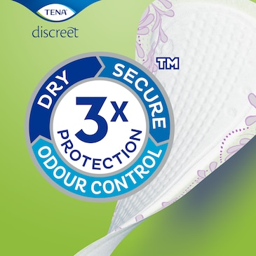 Slipové vložky TENA Lady Slim strojí ochranou proti protečení, vlhkosti a zápachu