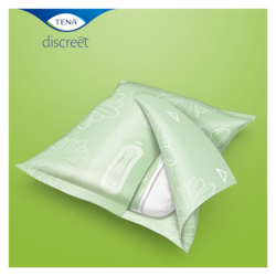 TENA Discreet pads are conveniently individually wrapped