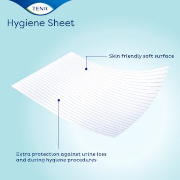 Tåligt hygienlakan som kan användas på flera underlag
