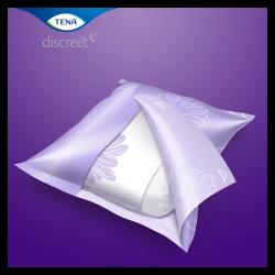 TENA Discreet Maxi Night Inkontinenzeinlagen für die Nacht sind einzeln verpackt