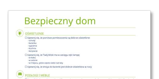"""Zrzut ekranu szablonu """"Bezpieczny dom"""" – TENA Opiekunowie"""