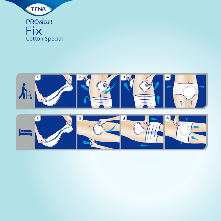 Hur du använder TENA Fix stående eller liggande