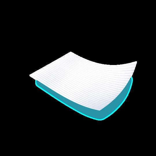 Poikkilakana – suojaa pintaa inkontinenssituotetta vaihdettaessa