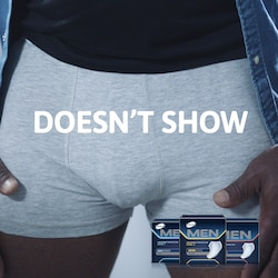 TENA Men pads does not show in your boxers