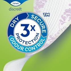 TENA Discreet-inlegkruisjes met drievoudige bescherming tegen doorlekken, geurtjes en een vochtig gevoel