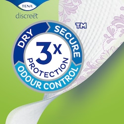 TENA Discreet Liners with Triple Protection against urine leaks, odour and moisture