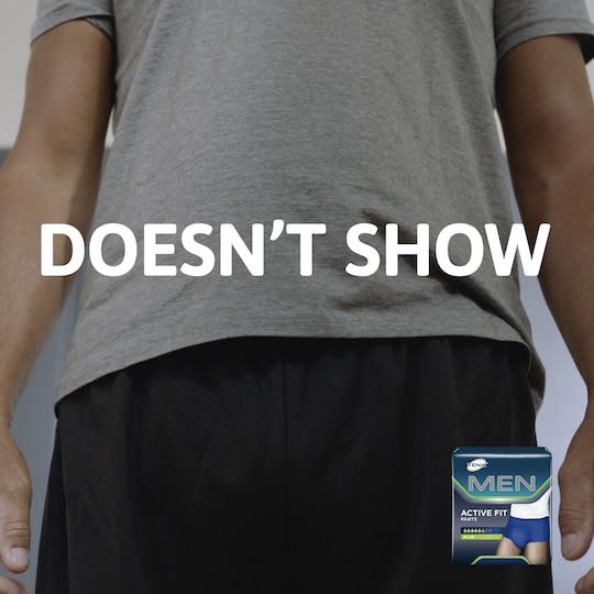 TENA Men Pants sehen genauso aus wie herkömmliche Unterwäsche