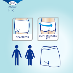 TENA Fix is seamless and comfortable and is designed for men and women