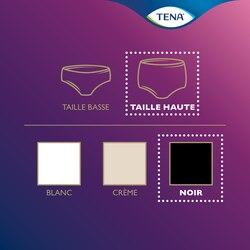 Vue d'ensemble de la gamme de produits TENA Silhouette – sous-vêtement taille haute en noir