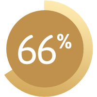 Graphic showing 66%