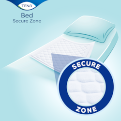 TENA Incontinence bed pad with Secure Zone