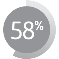 Graphic showing 58%