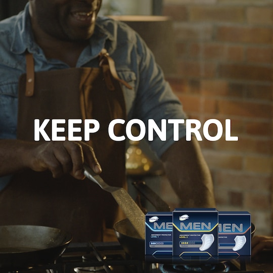 Keep Control with TENA Men incontinence products for best fit and protection