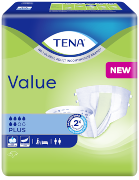 TENA Value | All-in-one incontinence protection with tabs