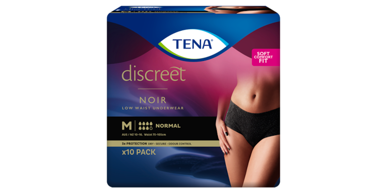TENA Pants Discreet Normal Low Waist Noir