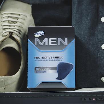 TENA Men absorberende innlegg for menn med urinlekkasje