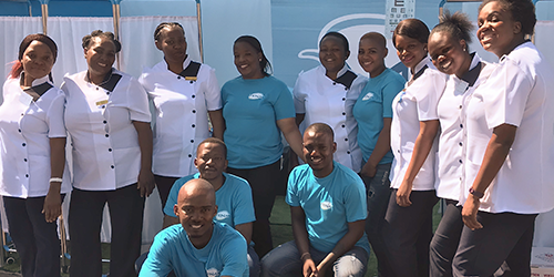 TENA team in South Africa, smiling
