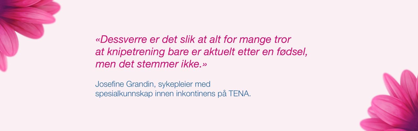 Toril Enderud Jørgensen, nordisk produktsjef i Tena