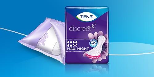 TENA paketeslietošanai nakts laikāir rādītas, lai nodrošinātu labu miega kvalitāti.