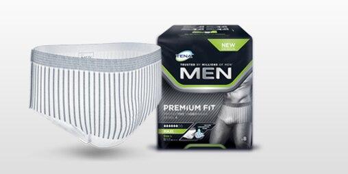 TENA Men absorberende undertøj med optimal pasform produkt og pakke