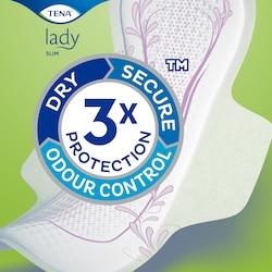 TENA Lady Slim betétek hármas védelemmel a vizeletszivárgás, a kellemetlen szagok és a nedvesség ellen